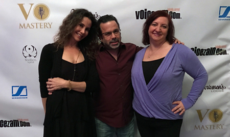 Voice actress Alyson Steel and MacMyDay's Tommy & Susie Grafman