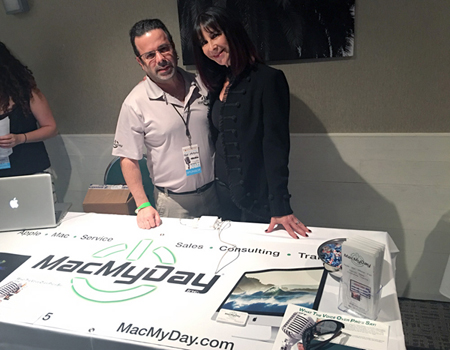 VO Legend and presenter Randy Thomas with MacMyDay's Tommy Grafman.