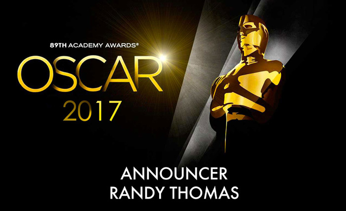 Randy Thomas VO 2017 Academy Awards