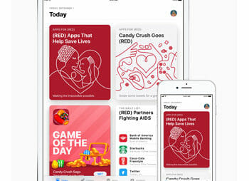 Apple and (RED) celebrate record year of giving (over 30 Million)!