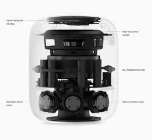 Apple HomePod transparent