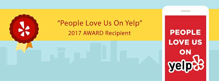 People Love Us On Yelp 2017 Award Recipient
