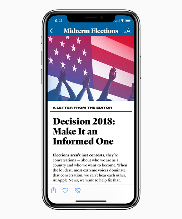 Apple News launches 2018 Midterm Elections section
