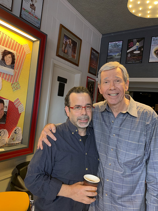 MacMyDay's Tommy Grafman and client (actor & author) Steve Nevil at his one man play, As Always Jimmy Stewart