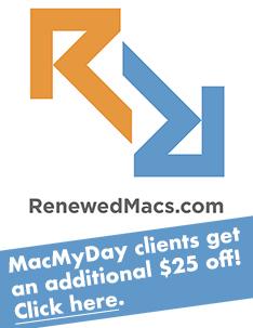 Renewed Macs MacMyDay special
